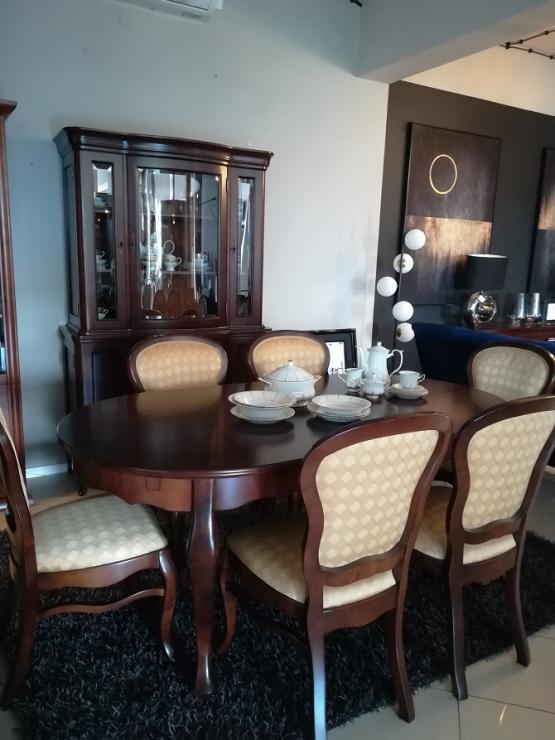 Jafra zestaw ART MI ( stół + 6 krzeseł + witryna)