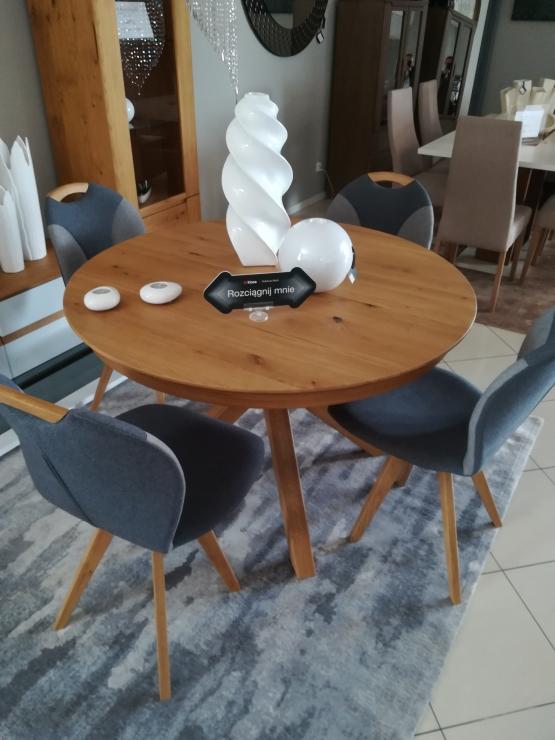 Klose stół fi 120 + 4 krzesła