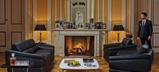 Zestaw KLER Sonata - sofa z f.spania + fotel relaks + fotel obrotowy + puf