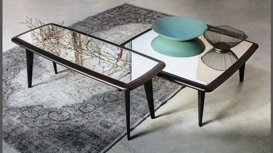 Vibieffe 9500 080, 082, 084, 086, 088, Tavolini componibili in legno e marmo
