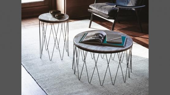 Vibieffe 9500 Tavolini, 103, 104 rotondi con piano in marmo